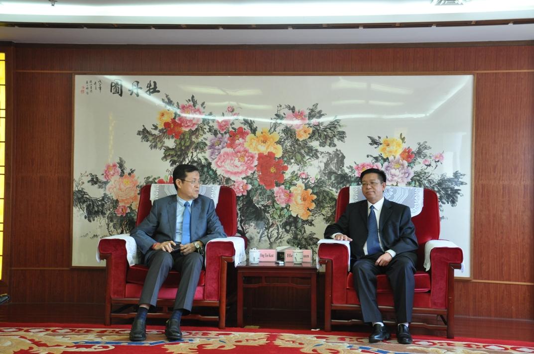 何祖坤院长会见马来西亚前交通部部长翁诗杰﹒丹斯里阁下